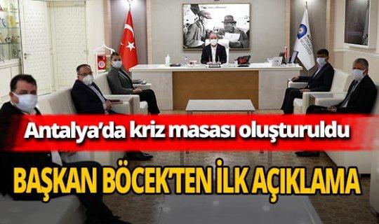 Antalya'daki afet sonrası Başkan Muhittin Böcek'ten ilk açıklama
