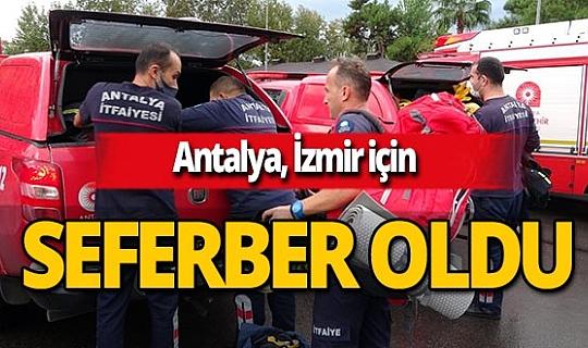 Antalya'dan İzmir'e arama kurtarma ekibi gönderildi