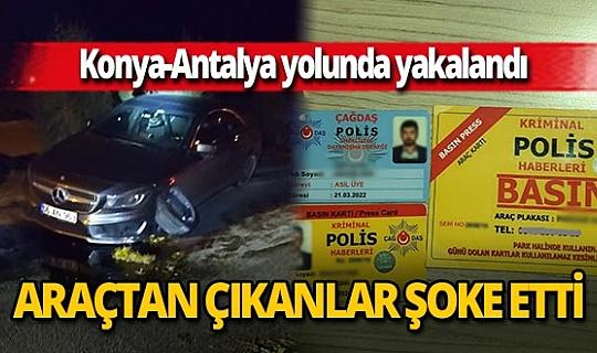 Antalya'dan Konya'ya uyuşturucu götürecekti, kaza yapınca yakalandı