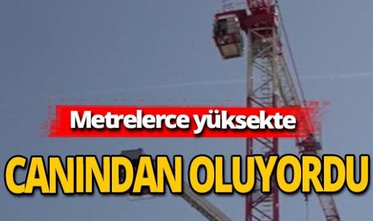 Antalya haber: 45 metre yükseklikte seferberlik