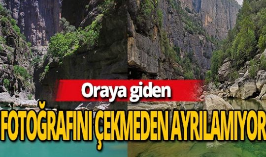 Antalya haber: Doğa harikası kanyondan nefes kesen görüntüler