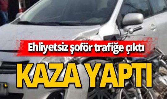 Antalya haber: Ehliyetsiz şoför kazadan kaçamadı