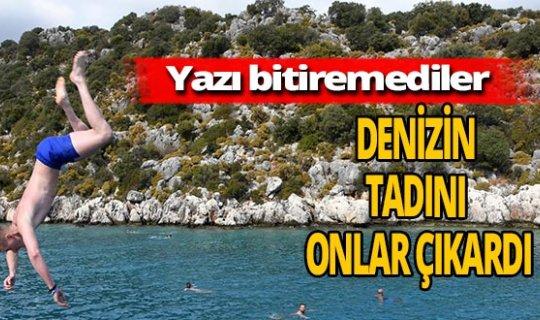 Antalya haber: Kekova'da doyasıya eğlendiler