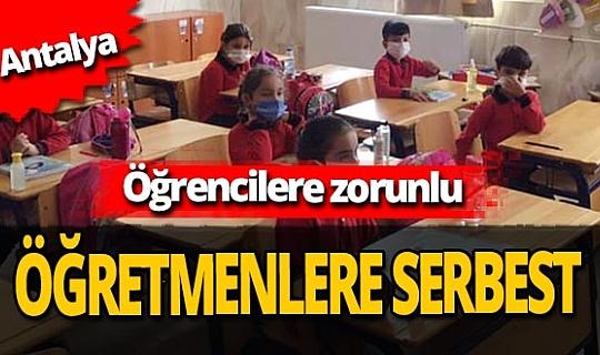 Antalya haber: Korkuteli'nde yüz yüze eğitim