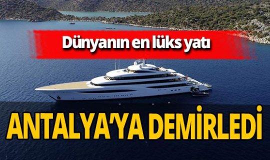 Antalya haber: Mega yat Kekova'ya demir attı