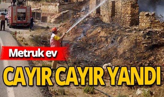 Antalya haber: Metruk evden alevler yükseldi