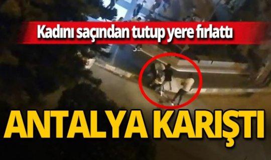 Antalya haber: Sokak ortasında tekmeli yumruklu kavga