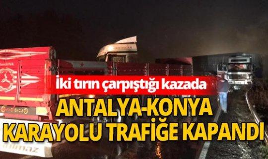 Antalya-Konya karayolunda feci kaza