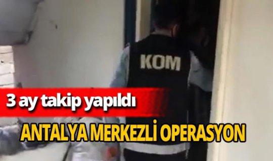 Antalya merkezli 4 ilde operasyon! kaçak akaryakıt ele geçirildi