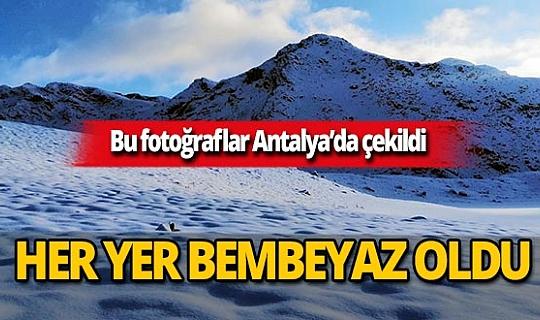 Antalya'nın yüksekleri karla kaplandı