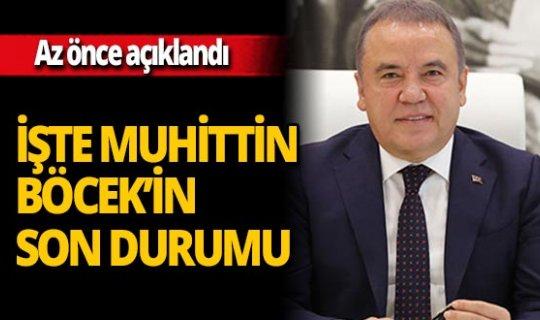 """Antalya son dakika...Akdeniz Üniversitesi: """"Muhittin Böcek'in genel seyri iyiye gidiyor"""""""