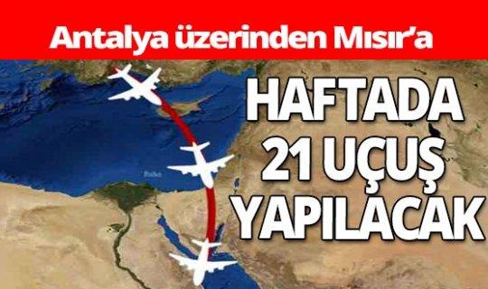 Antalya üzerinden Mısır'a uçuşlar başlıyor