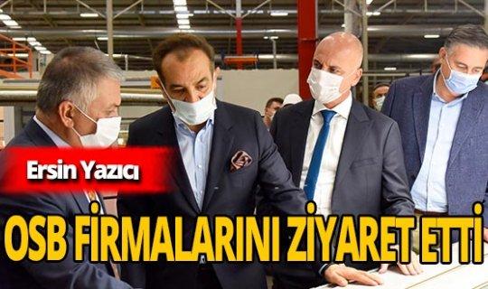 Antalya Valisi Ersin Yazıcı OSB firmalarını ziyaret etti