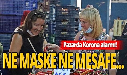 Antalya'da koronayı hiçe saydılar! Alışverişe devam ettiler
