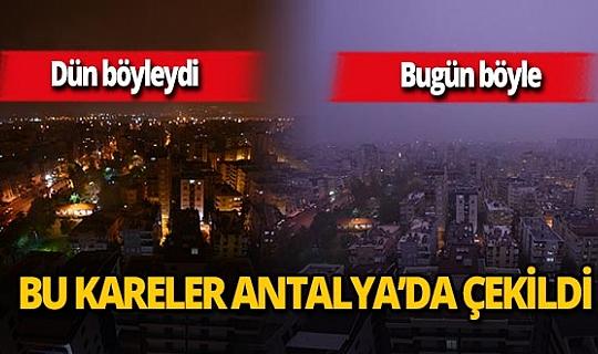 Antalyalılar bu sabaha kara bulutlarla uyandı