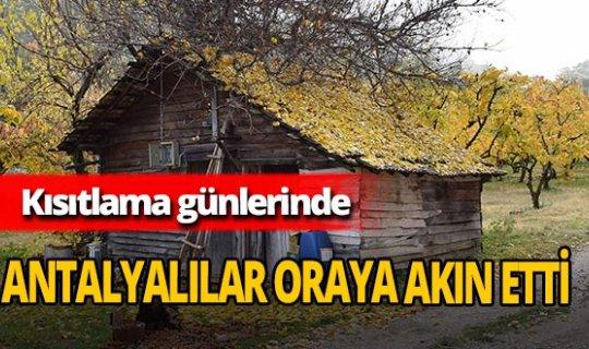 Antalyalılar kısıtlama günlerini geçirmek için Altınyaka'ya akın etti