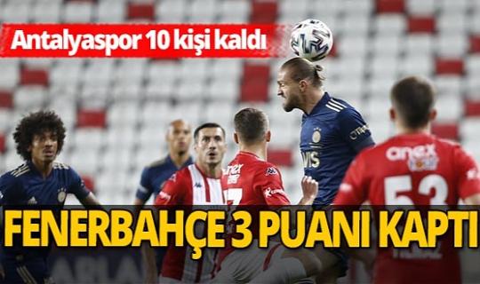 Antalyaspor - Fenerbahçe maçı sona erdi