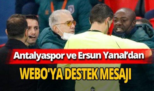 Antalyaspor'dan Webo'ya destek mesajı