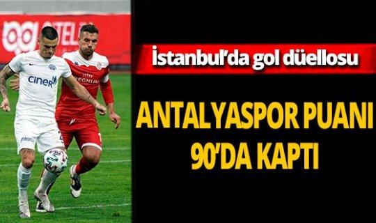 Antalyaspor puanı 90'da kaptı