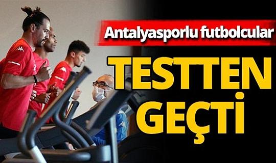 Antalyasporlu futbolcular laktat testinden geçti