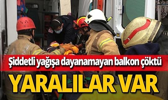 Avcılar'da binanın balkonları çöktü! Yaralılar var