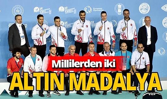 Avrupa Erkekler Artistik Cimnastik Şampiyonası'nda Ferhat Arıcan ve  İbrahim Çolak'tan altın madalya