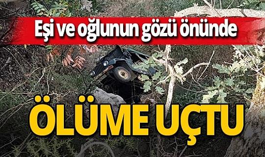 Aydın'da freni patlayan araç uçuruma yuvarlandı