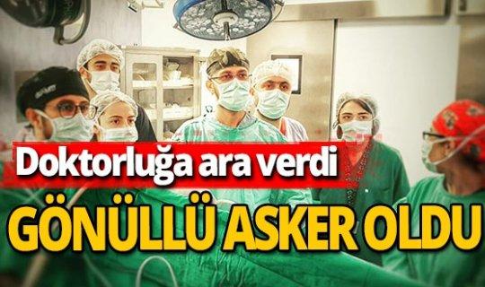 Azeri doktor görevine ara verip gönüllü asker oldu