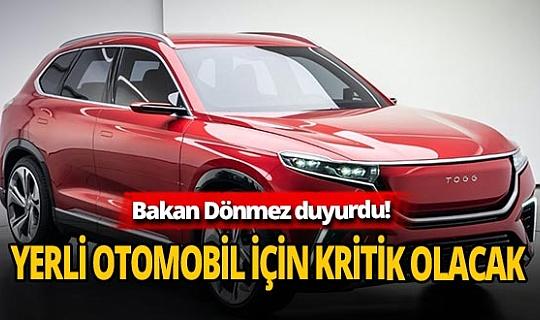 Bakan Fatih Dönmez'den flaş 'yerli otomobil' açıklaması