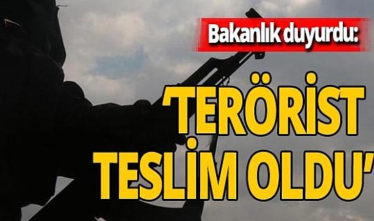 Bakanlık duyurdu: 'İkna edilen 1 terörist daha teslim oldu'