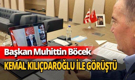 Başkan Muhittin Böcek CHP lideri Kemal Kılıçdaroğlu ile görüştü