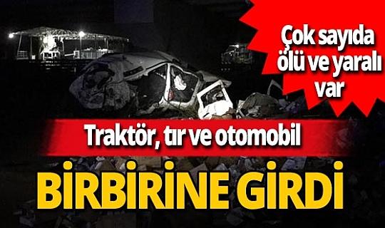 Batman-Diyarbakır karayolunda zincirleme kaza! Ölü ve yaralılar var