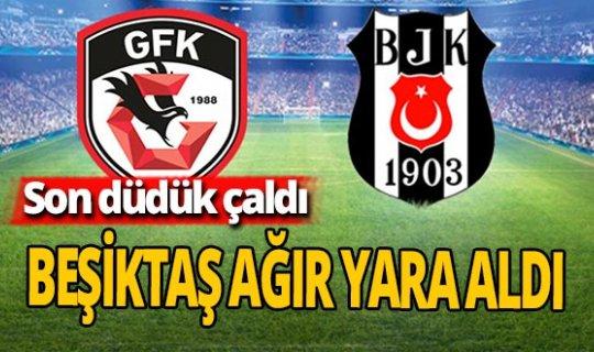 Beşiktaş deplasmanda ağır yara aldı: 3-1