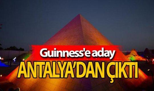 Bin ton kumla yapıldı, Guinness'e aday!