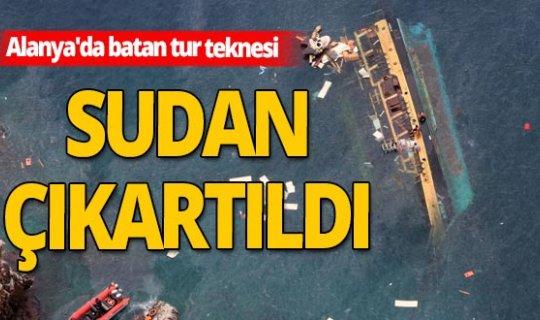 Bir turiste mezar olan tekne sudan çıkarıldı