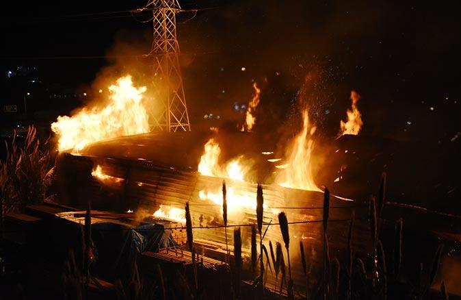 Bodrum'da pelet fabrikasında yangın!