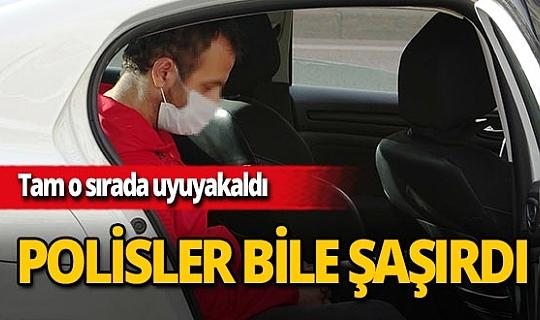 Bursa'da kısıtlamayı ihlal etti, polis ceza yazarken uyudu