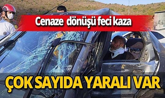 Bursa'da minibüs ile otomobil çarpıştı! 2'si ağır 7 yaralı
