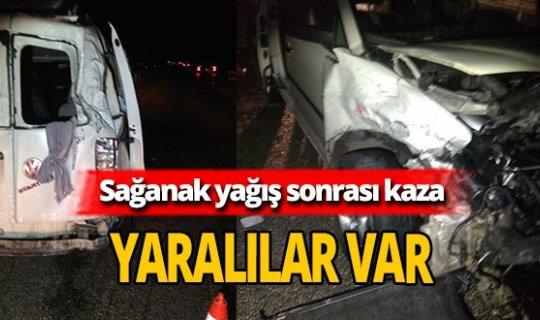 Bursa'da sağanak yağış kazaya neden oldu