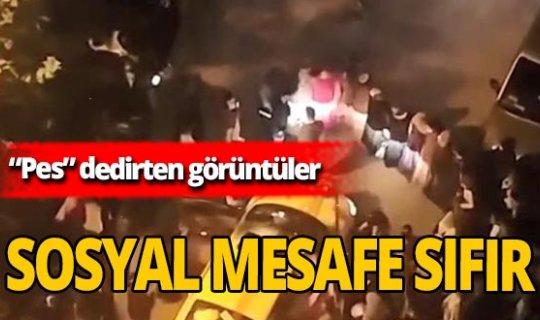 """Bursa'da sosyal mesafesiz görüntüler """"Pes"""" dedirtti"""