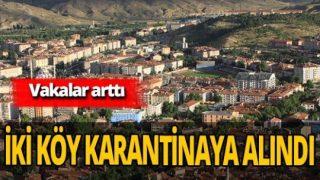 Çankırı'da vakalar artınca iki köy karantinaya alındı