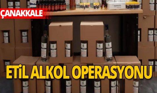 Çanakkale'de sahte alkol operasyonu