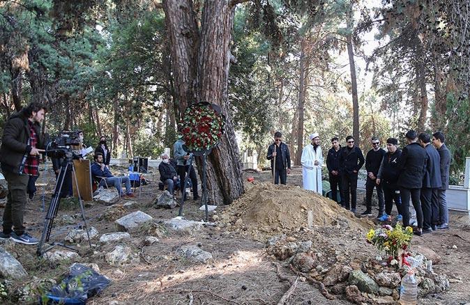 Arapsuyu Mahallesi Mezarlığı'nda dizi çektiler
