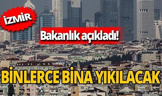 Çevre ve Şehircilik Bakanlığı İzmir'deki hasar tespitine ilişkin verileri paylaştı