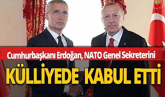 Cumhurbaşkanı Erdoğan'ın NATO Genel Sekreteri Jens Stoltenberg'i kabul etti