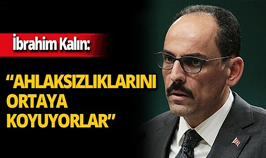 """Cumhurbaşkanlığı Sözcüsü İbrahim Kalın: """"Herkes bu iğrenç yayıncılığı kınamalı ve reddetmelidir"""""""