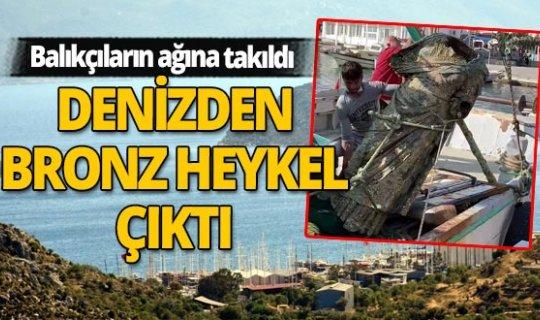 Denizden balık yerine bronz heykel çıktı