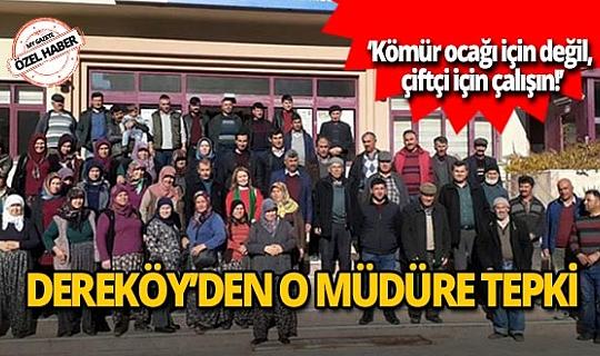 Dereköy'den Antalya Tarım İl Müdürlüğü'ne tepki!