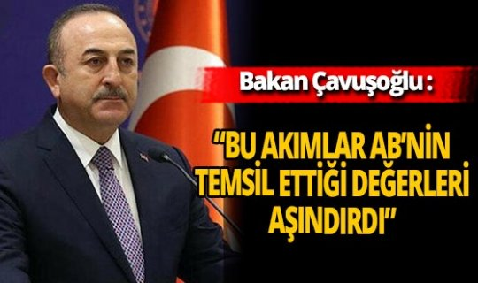 """Dışişleri Bakanı Mevlüt Çavuşoğlu: """"Bu akımlar AB'nin temsil ettiği değerleri aşındırdı"""""""