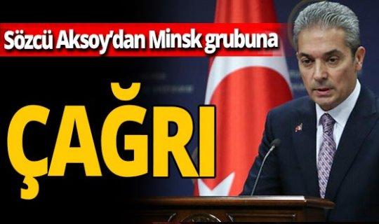 Dışişleri Bakanlığı Sözcüsü Hami Aksoy'dan: 'sonuç odaklı müzakere sürecini başlatın' çağrısı